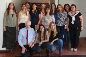 The psychologist and interpreters at the end of the San Juan video interview training course.